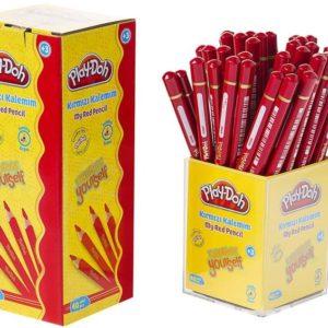 PLAY-DOH-OFİS MALZEMELERİ-Yazı Gereçleri-Kurşun Kalemler-Play-Doh Kırmızı Kalemim 40'lı Stand