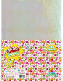 PLAY-DOH KIRTASİYE-OKUL GEREÇLERİ-Etkinlik Kağıtları-Elişi Kağıdı-Play-Doh Simli Elişi Kağıdı Zarflı Karışık Model 2