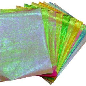 PLAY-DOH KIRTASİYE-OKUL GEREÇLERİ-Etkinlik Kağıtları-Elişi Kağıdı-Play-Doh Simli Elişi Kağıdı Zarflı Karışık Model 3