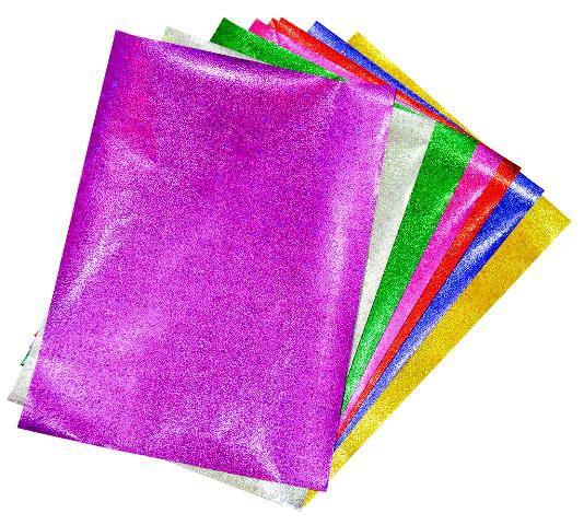 PLAY-DOH KIRTASİYE-OKUL GEREÇLERİ-Etkinlik Kağıtları-Elişi Kağıdı-Play-Doh Simli Elişi Kağıdı Zarflı Karışık Model 4