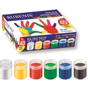 RUBENİS-OKUL GEREÇLERİ-Resim Gereçleri-Parmak Boyalar-Rubenis Parmak Boyası 6 Renk 30 Ml
