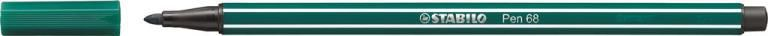 STABİLO-OFİS MALZEMELERİ-Yazı Gereçleri-Fineliner Kalemler-Stabilo Pen 68 Keçeli Kalem Turkuaz Yeşili