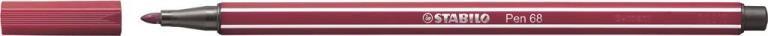 STABİLO-OFİS MALZEMELERİ-Yazı Gereçleri-Fineliner Kalemler-Stabilo Pen 68 Keçeli Kalem Vişne Çürüğü