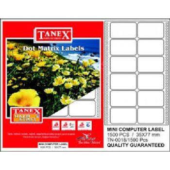TANEX-KAĞIT ÜRÜNLERİ-Etiket Ve Makineleri-Etiket Makinesi Etiketleri-TANEX 35X77 Mm Bilgisayar Etiketi