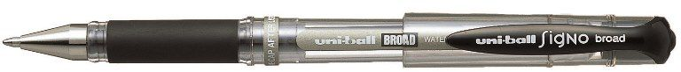 Uniball-OFİS MALZEMELERİ-Yazı Gereçleri-Jel Ve Simli Kalemler-Uniball Signo Broad 1.0 İmza Kalemi Siyah