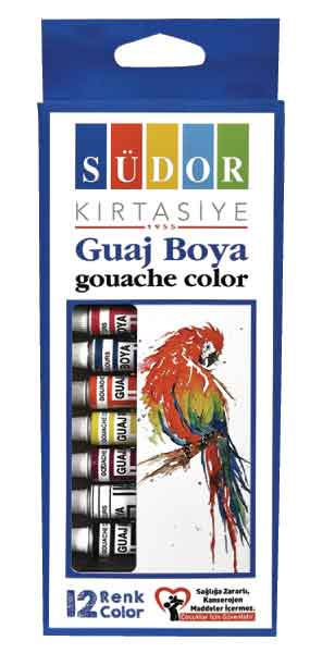 SÜDOR GUAJ BOYA SET 12X8,5 ML SD575