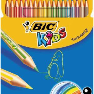 BİC-OKUL GEREÇLERİ-Resim Gereçleri-Kuru Boyalar-Bic Tropıcolor-2 Boya Kalemi 18Li