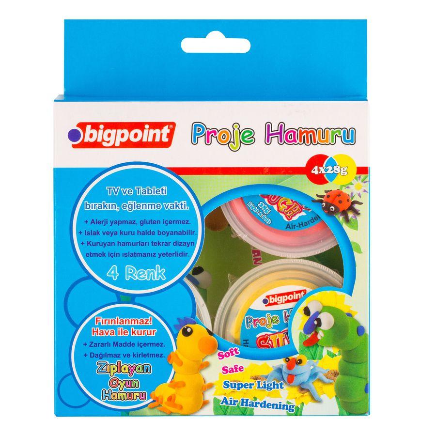 BİGPOİNT-OYUNCAKLAR-Oyun Hamurları--Bigpoint Proje Hamuru 4 Renk x 28 Gram BP763-04