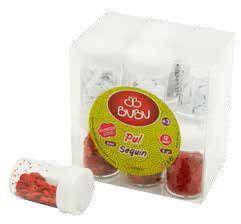 BU-BU-OKUL GEREÇLERİ-Okul Öncesi Ürünler-Pul Ve Boncuk Çeşitleri-Bu-Bu Pul Kırmızı-Beyaz 6gr 12'li Pvc