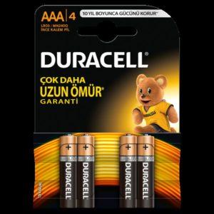 DURACELL-OFİS ELEKTRONİĞİ-Piller--DURACELL İNCE KALEM PİL (AAA) 4LÜ