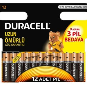 DURACELL-OFİS ELEKTRONİĞİ-Piller--DURACELL 9+3 İNCE KALEM PİL