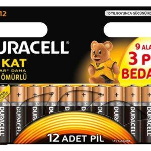 DURACELL-OFİS ELEKTRONİĞİ-Piller--DURACELL 9+3  AA KALEM PİL