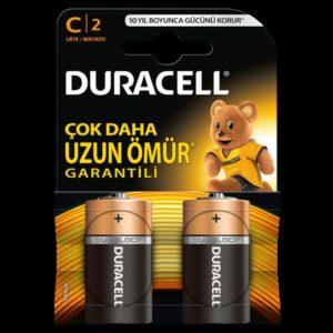 DURACELL-OFİS ELEKTRONİĞİ-Piller--DURACELL C BOY PİL 2Lİ