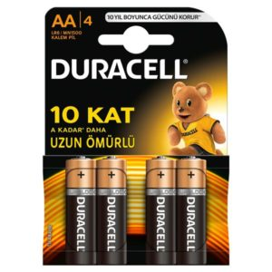 DURACELL-OFİS ELEKTRONİĞİ-Piller--Duracell 2A 4Lü Kalem Pil AA