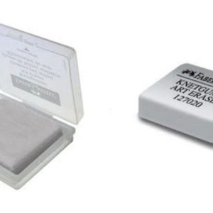 Faber-Castell-OKUL GEREÇLERİ-Silgiler--Faber-Castell Plastik Kutulu Gri Hamur Silgii 18'Li