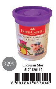 Faber-Castell-OYUNCAKLAR-Oyun Hamurları--Faber-Castell Su Bazlı Oyun Hamuru Floresan Mor