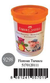 Faber-Castell-OYUNCAKLAR-Oyun Hamurları--Faber-Castell Su Bazlı Oyun Hamuru Floresan Turuncu