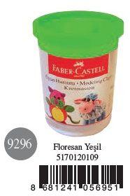 Faber-Castell-OYUNCAKLAR-Oyun Hamurları--Faber-Castell Su Bazlı Oyun Hamuru Floresan Yeşil