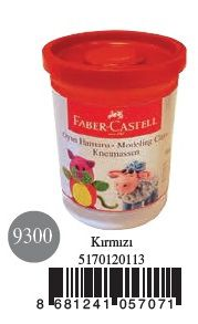 Faber-Castell-OYUNCAKLAR-Oyun Hamurları--Faber-Castell Su Bazlı Oyun Hamuru Kırmızı