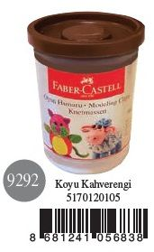 Faber-Castell-OYUNCAKLAR-Oyun Hamurları--Faber-Castell Su Bazlı Oyun Hamuru Koyu Kahverengi