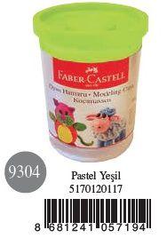 Faber-Castell-OYUNCAKLAR-Oyun Hamurları--Faber-Castell Su Bazlı Oyun Hamuru Pastel Yeşil