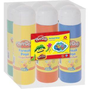 PLAY-DOH-OKUL GEREÇLERİ-Resim Gereçleri-Parmak Boyalar-Play-Doh Parmak Boya 6x250 Ml Shrink