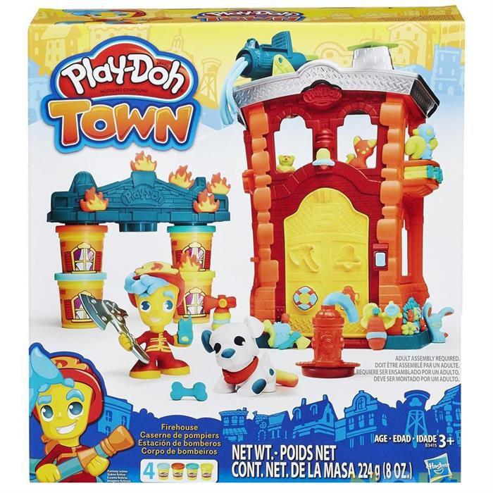 HASBRO-OYUNCAKLAR-Eğitici Oyuncaklar--Play-Doh Town İtfaiye Merkezi B3415