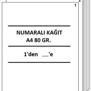www.kirtasiyeciamca.com - numaralı A4 defter tasdik