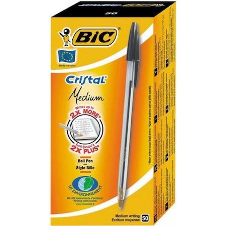 Bic Tükenmez Kalem Cristal Med Siyah 50li - 847897