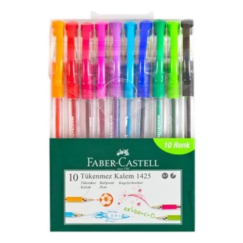 Faber-Castell 1425 Tükenmez Ailesi 10'lu Poşet YENİ
