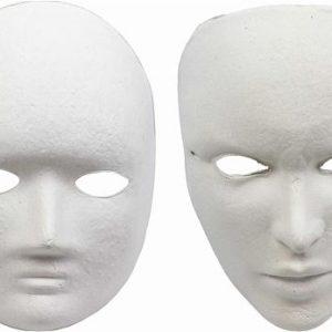 karton maske boyama