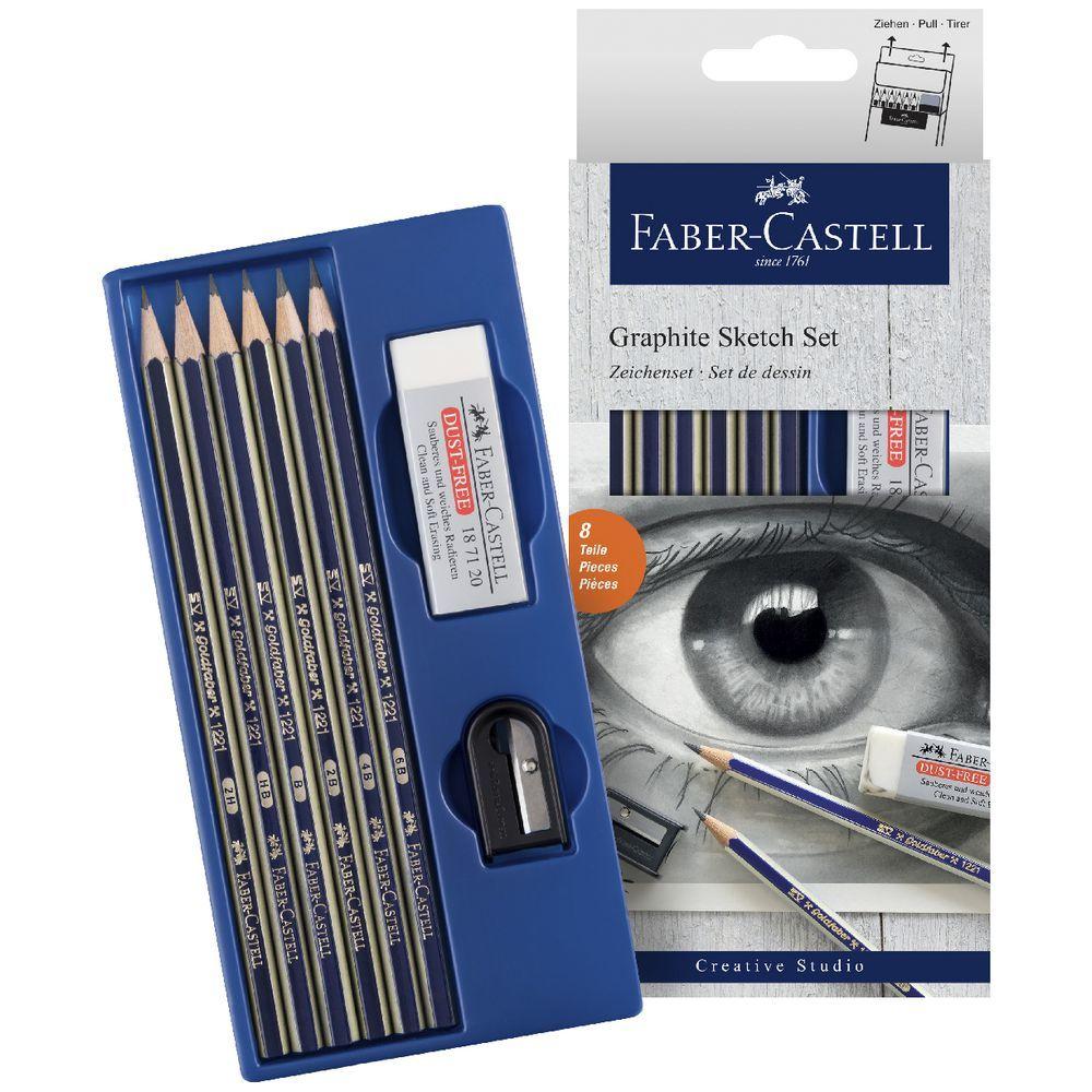 Faber-Castell Goldfaber Dereceli Kalem Çizim Seti Yeni