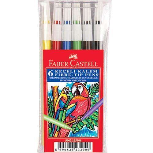 Faber-Castell Keçeli K. 6 R. Yıkanabilir