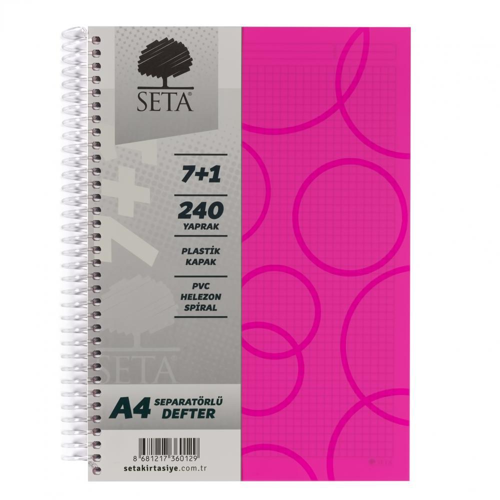 Seta A4 Separatörlü Defter 7+1 240 Yaprak