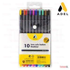 Adel Fineliner, 10 Renk, Karışık