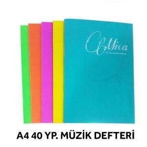 Gıpta Tel Dikişli Pp Kapak Müzik Defter A4-40 Yaprak