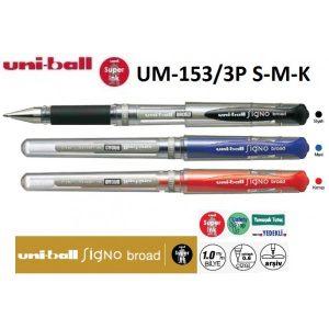 Uniball Signo Broad 1.0 İmza Kalemi 3'Lü Set
