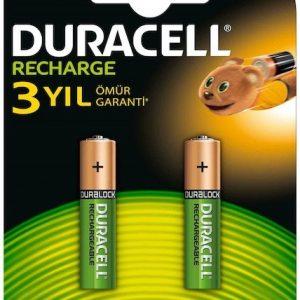 Duracel Rechargeable 750 Mah İnce Pil 2Li